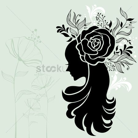 Rose : Woman with a flowery hairstyle