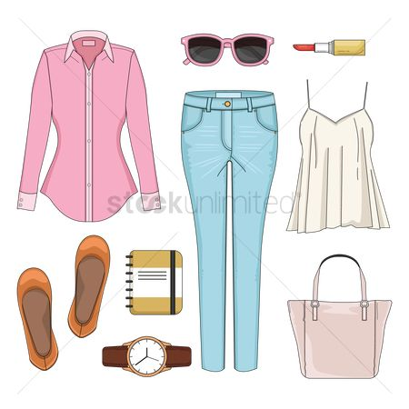Footwears : Women fashion set