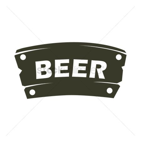 Wooden sign : Wooden beer sign