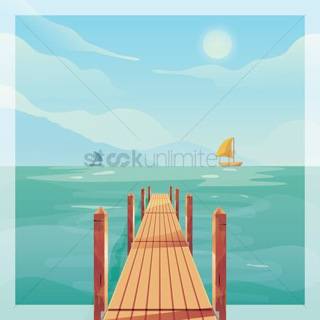 Vacation : Wooden pier