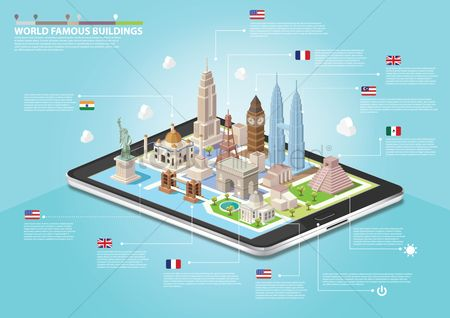 Mobiles : World famous buildings