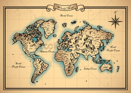 America : World map design