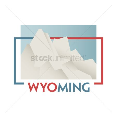 Old faithful : Wyoming state map