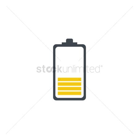 Charging icon : Yellow battery level indicator icon