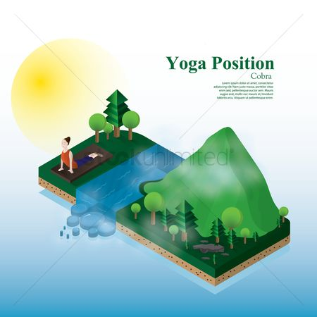 Relaxing : Yoga position