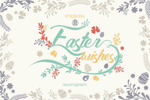 Fancy : Easter Wishes Dingbats