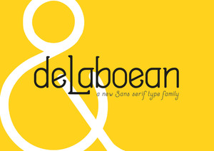 Flyer : DeLaboean Typefamily