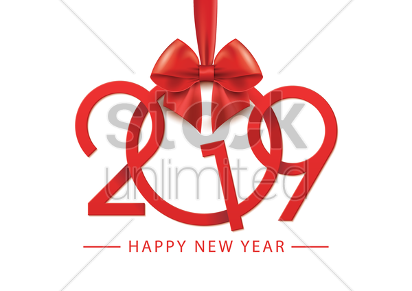 2019 happy new year vector graphic