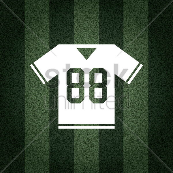 Free american football jersey on striped background vector graphic
