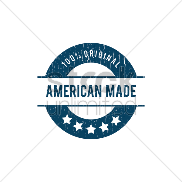 American Made Label Vector Image 1524769 Stockunlimited
