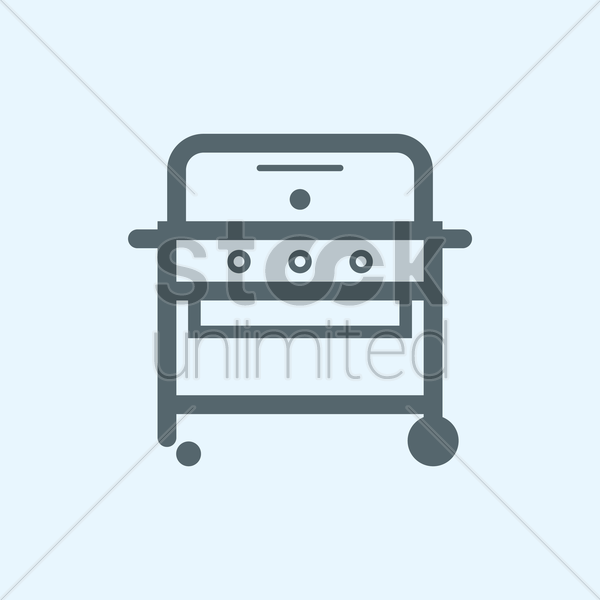 barbecue grill vector graphic