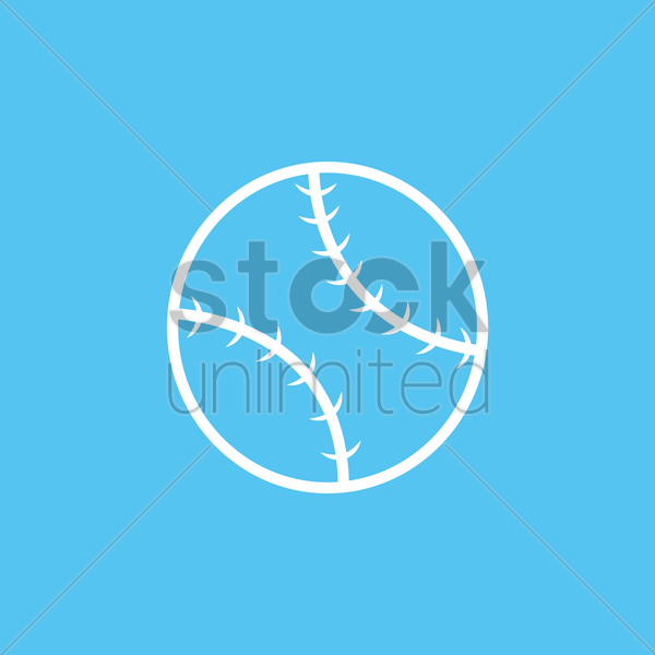 baseball ball vector graphic