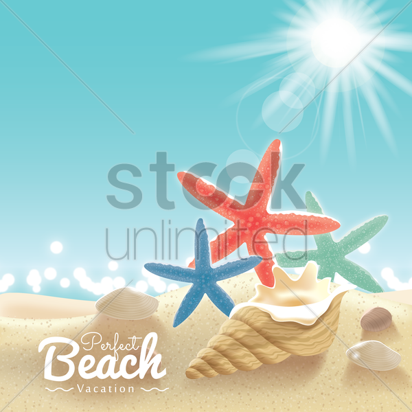 beach vacation background vector graphic