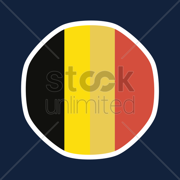 Belgium flag sticker vector graphic