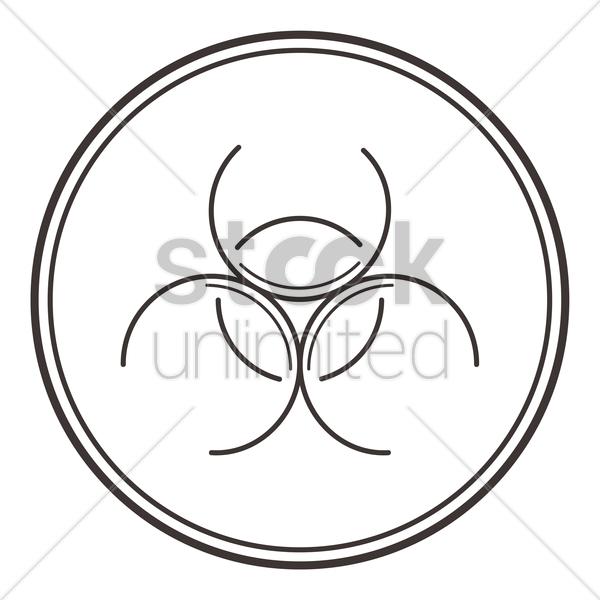 Biohazard Symbol Vector Image 2010437 Stockunlimited
