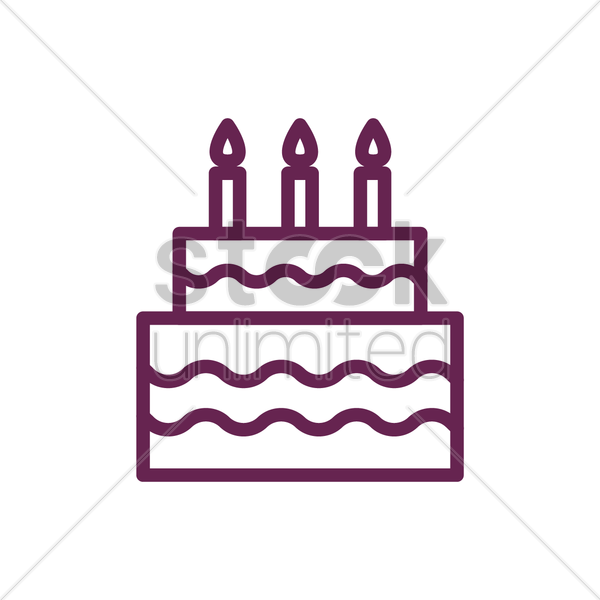 Birthday Sign Ups: Birthday Cake Vector Image - 2025225