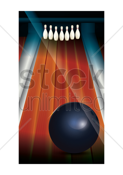 bowling pins wallpaper for mobile phone vector graphic
