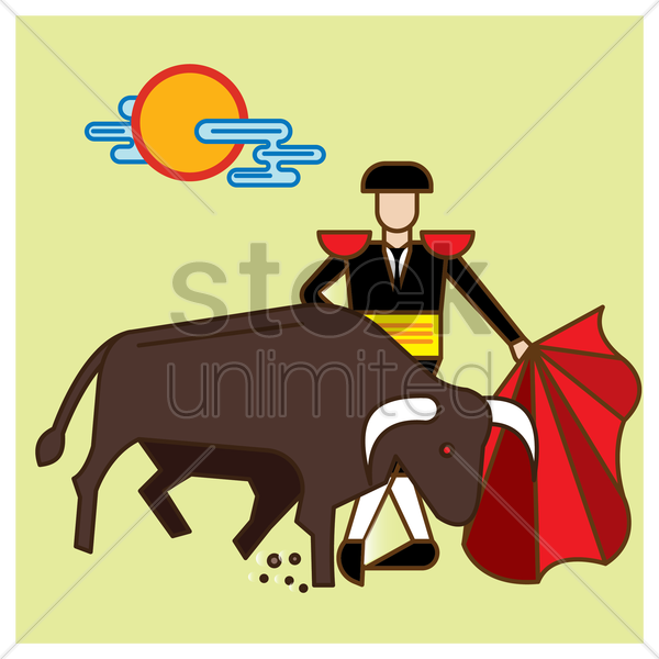 bullfighting vector graphic