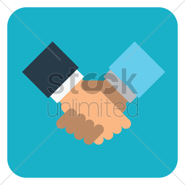 business partnership vector graphic