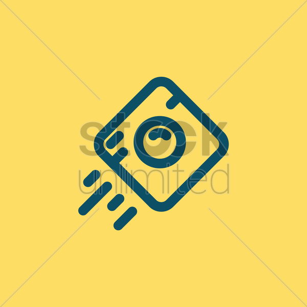 camera icon vector graphic