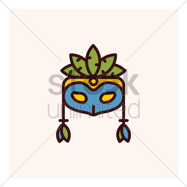carnival mask vector graphic