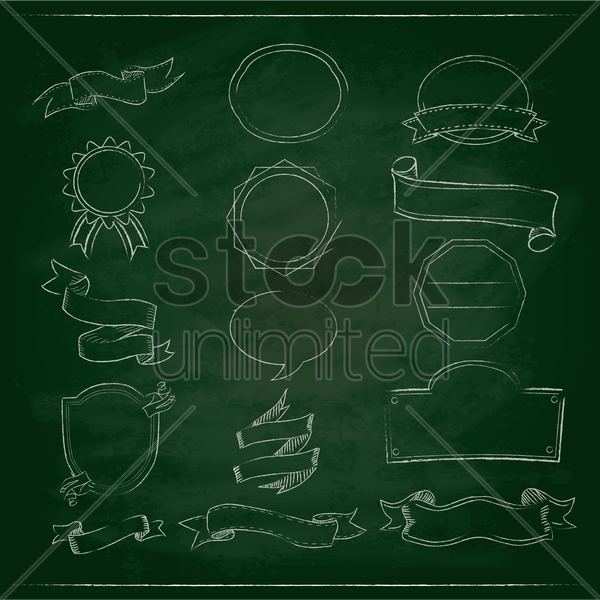 chalkboard labels vector graphic
