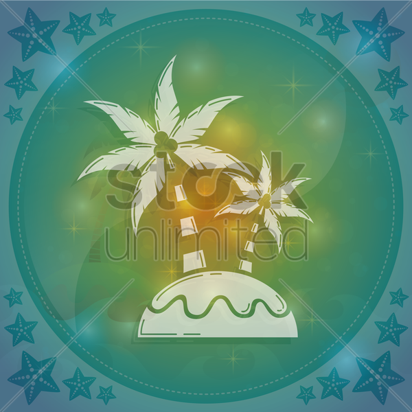 coconut trees vector graphic