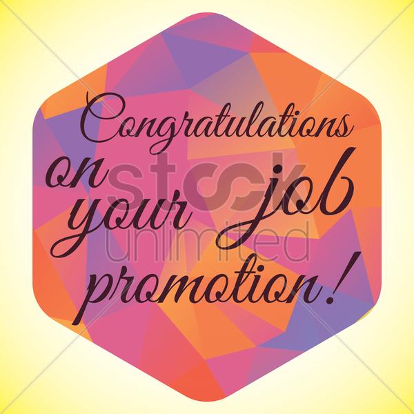 congratulation job promotion wish vector image