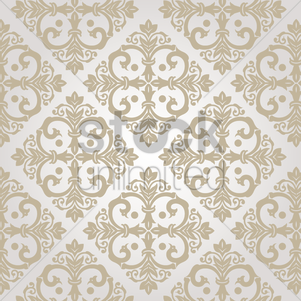 damask vintage white pattern vector graphic