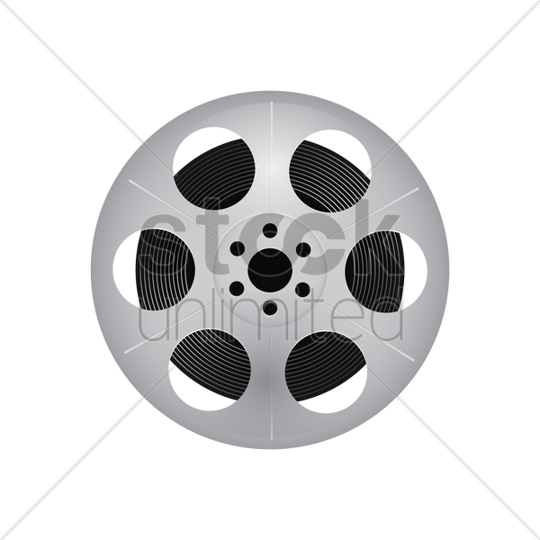 film reel vector graphic