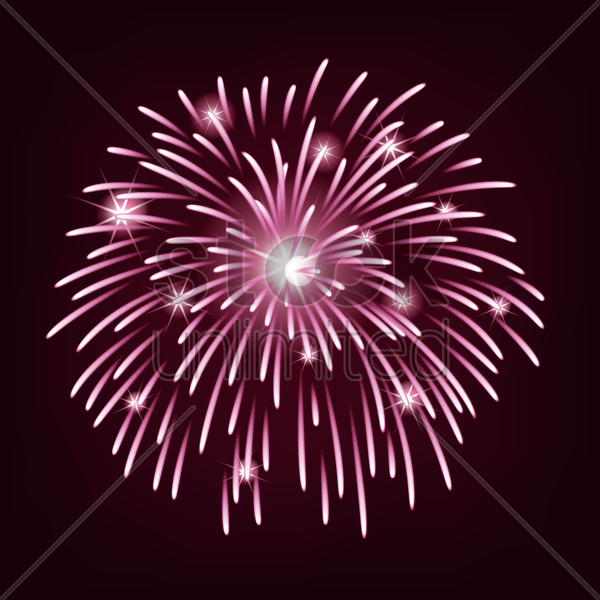 fireworks vector graphic