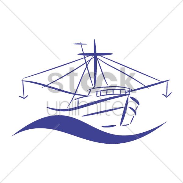 Fishing trawler Vector Image - 2035333   StockUnlimited