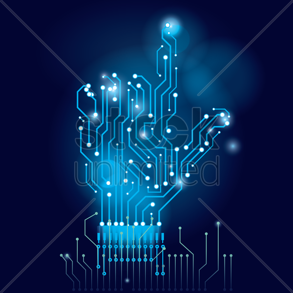 Hand on circuit board wallpaper Vector Image - 1807673 | StockUnlimited
