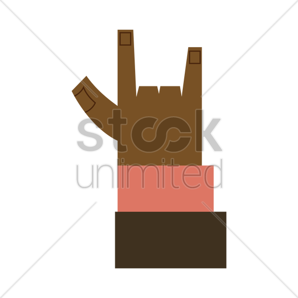 Free Hand Sign I Love You Symbol Vector Image 1261329 Stockunlimited