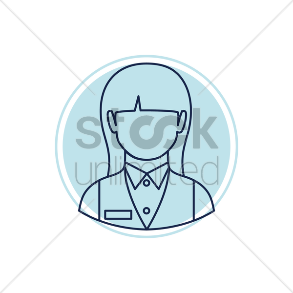 hotel receptionist vector graphic