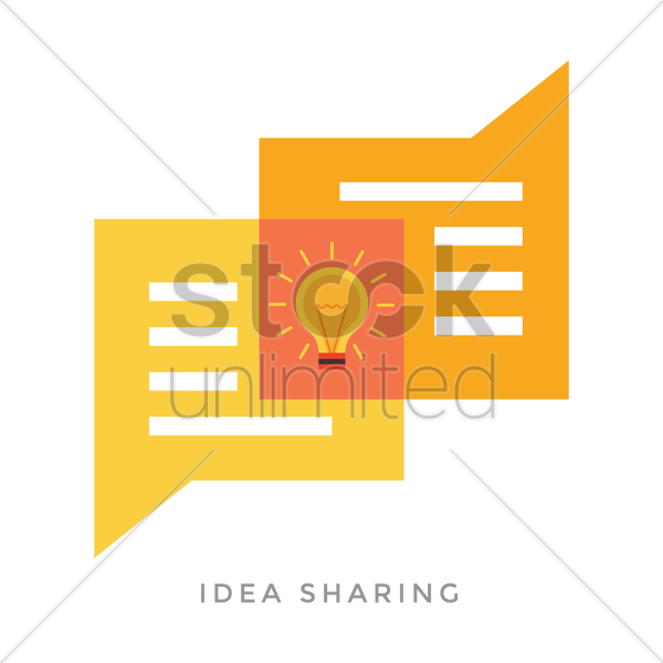 idea sharing concept vector graphic