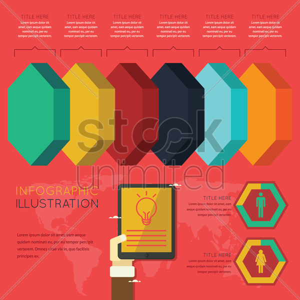 infographic of technology usage vector graphic