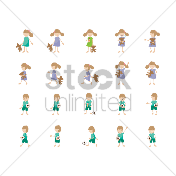 Kids Icons Vector Image 1330081 Stockunlimited