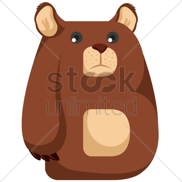 letter b for bear vector graphic