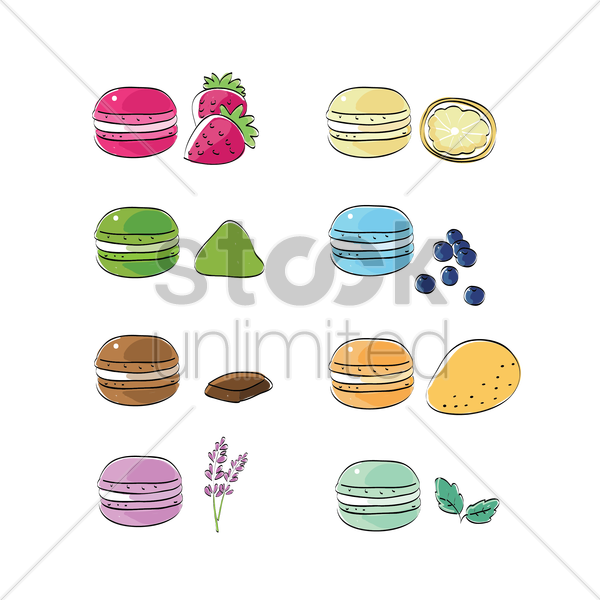macarons vector graphic
