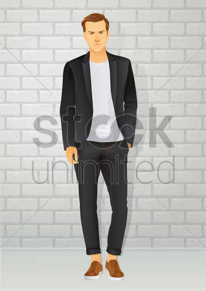 man vector graphic