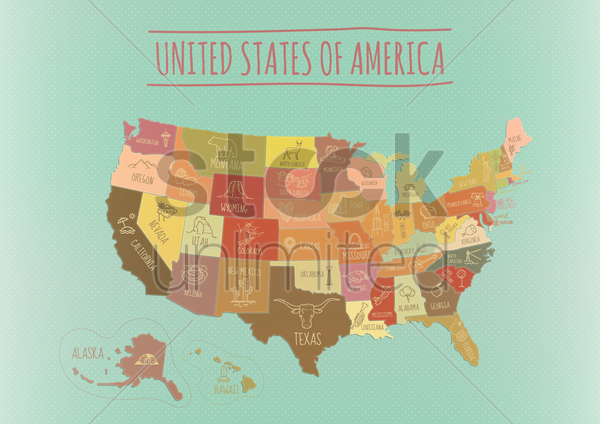 map of usa vector graphic