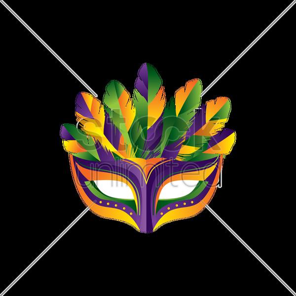 Masquerade Mask Design Vector Graphic