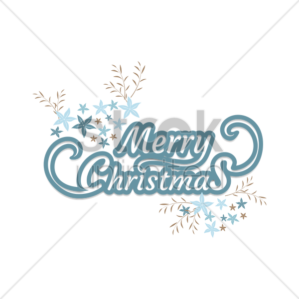 Free merry christmas vector graphic