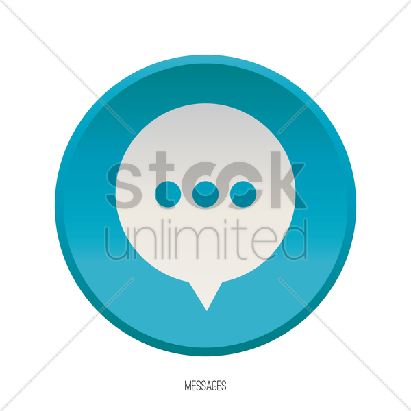 messages icon vector graphic