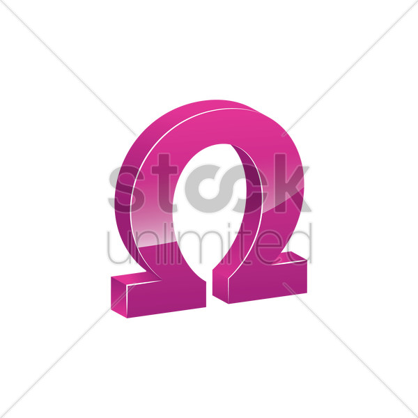 Omega Symbol Vector Image 1866301 Stockunlimited