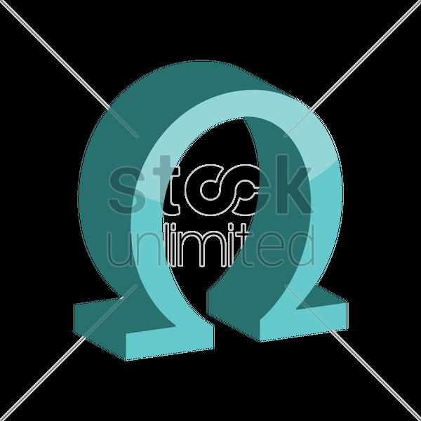 Omega Symbol Vector Image 1866785 Stockunlimited