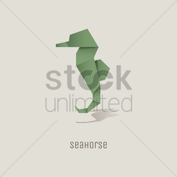 Origami Seahorse Vector Image 1817857 Stockunlimited