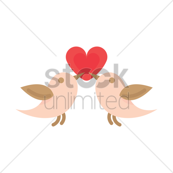 Free Pair of lovebirds Vector Image - 1264165 | StockUnlimited