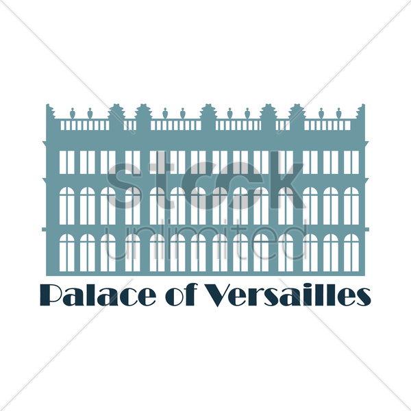 palace of versailles vector graphic